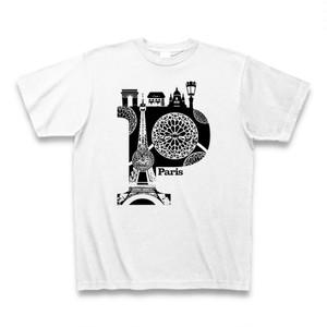 Tシャツ Paris:ホワイト