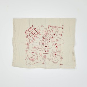 MAP TOTE Tea Towel New York
