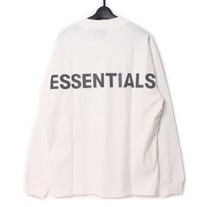Fear Of God Essentials フィアオブゴッド エッセンシャルズ ロンT ホワイト S [全国送料無料] r017292