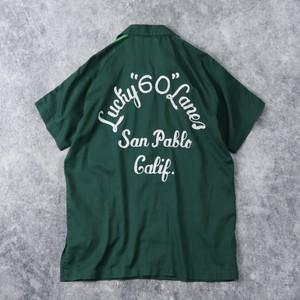 """70年代 """" Hilton """" ヒルトン ボーリングシャツ チェーン刺繡 USA製 36 古着"""
