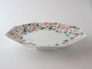 桜 八角大皿