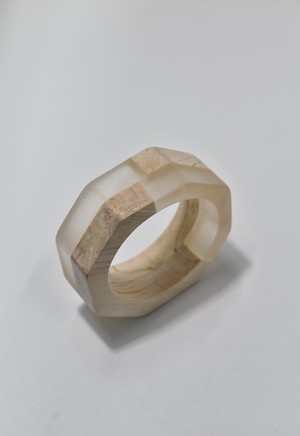 ethical wood bangle Clear