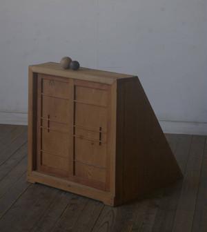希少◆古い階段下の台形戸棚 YZ2063