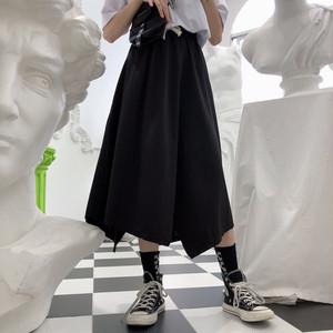 【ボトムス】ファッション不規則ギャザー飾りハイウエストスカート19739769