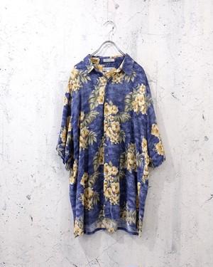 pierre cardin aloha shirt (blue)