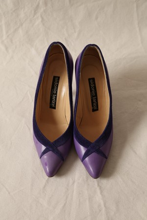 Sidonie Larizzi Vintage Pumps-Purple