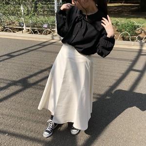 リボンベルト付きフレアスカート 【8AWSK2】
