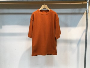 "crepuscule""Highgage Moss Stitch S/S Cutsew Orange"""