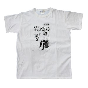 WL× shomiyata TIRED T Shirt(WHITE LINE)