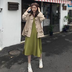 ジャケット+キャミワンピ コーデ