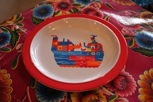 Noah's Ark Plate Red