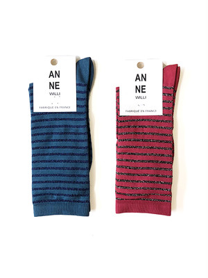 STRIPE SOCKS / ANNE WILLI