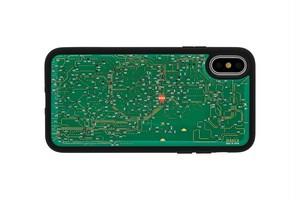 FLASH 東京回路線図 iPhoneX/XSケース 緑【東京回路線図A5クリアファイルをプレゼント】