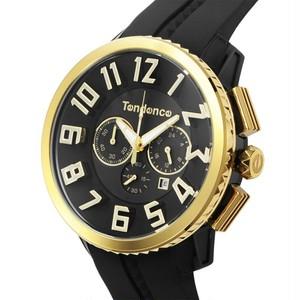 【Tendence テンデンス】TY460011 GULLIVER47 ガリバー(ブラック×イエローゴールド)/国内正規品 腕時計