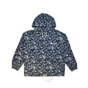 FLOWER CANVAS ANORAK JACKET (JAPAN MADE) / BLUE