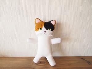 三毛猫人形