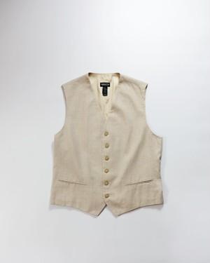layered linen vest