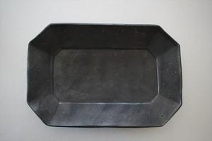 加藤祥孝|鉄釉7.5寸八角長皿