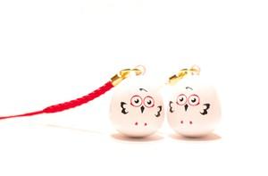 【安産子宝】コウノトリの福音鈴セット *赤*白