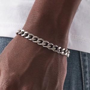 Miami Chain Link Bracelet 【8mm/SILVER】