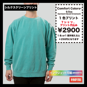 Comfort Colors® Garment Dyed Crewneck Sweatshirt (品番CC1566)