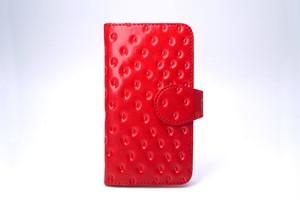 牛革製いちごなスマホケース(Mサイズ)iPhone 6 6s 7 8 多機種対応