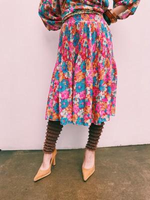 Susan freis pink floral skirt ( スーザン フレイス ピンク 花柄 スカート )