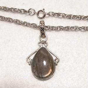 天然石ペンダントネックレス ラブラドライトの石 コスチュームジュエリーのセール通販  5938N