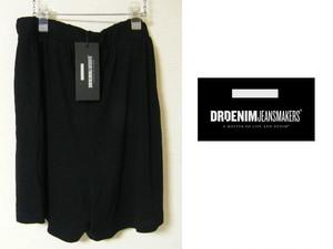 インド製 新品 Dr.Denim ドクターデニム 綿素材 ニットショート ゴム入りブラックパンツ【Lサイズ程度:ウエスト73cm】