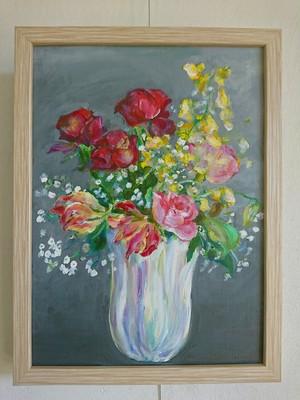 虹色の花瓶