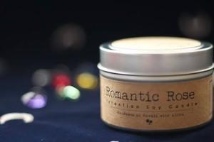 Romantic Rose〔ロマンティック・ローズ〕 アロハエリクサーキャンドル(メッセージカード付)