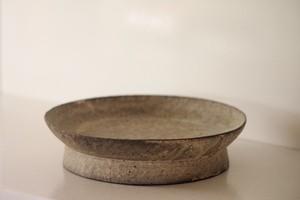 村上躍 29.白灰化粧高台鉢