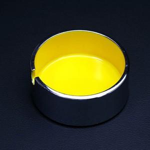 DEAD STOCK! 昭和レトロ ファミリア いろいろ灰皿 メラミン灰皿 ミニ 黄(385)
