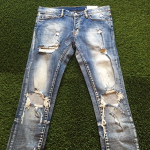 【MNML】 -ミニマル-M1 STRETCH DENIM BLUE