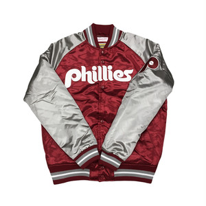 Mitchell & Ness Tough Season Satin Jacket Philadelphia Phillies