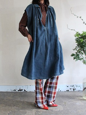 1900s French Indigo Smock
