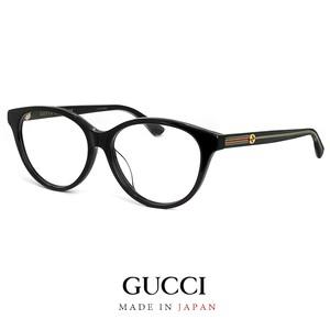 日本製 グッチ メガネ メンズ レディース ユニセックス gg0379oa 001 アジアンフィットモデル GUCCI 眼鏡 ボストン型 MADE IN JAPAN