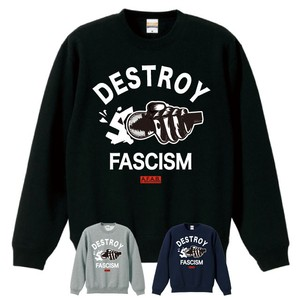 DESTROY FASCISM(A.F.A.B.:ALL FASCISTS ARE BASTARDS)SWEAT(黒 / グレー / ネイビーボディー )