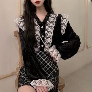 vintage lace cardigan 2color