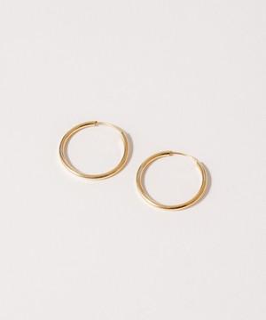 Thin Hoop Pierce(2.0cm)[Silver925]