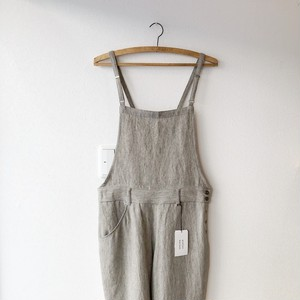atelier naruse  麻ウールサロペットパンツ  グレイ  サイズ40(new)