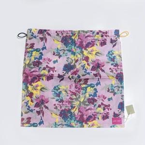 北欧デザイン 巾着   pink flower