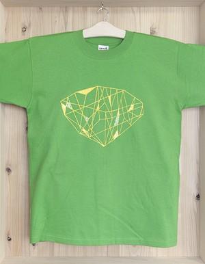手描きTシャツ「きかがく/ダイヤ」
