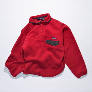 Used☆ 90's patagonia SYNCHILLA Snap-t(Burnt chili / 赤系)