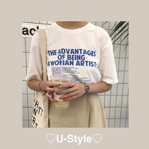 【即日発送】アルファベット柄Tシャツ