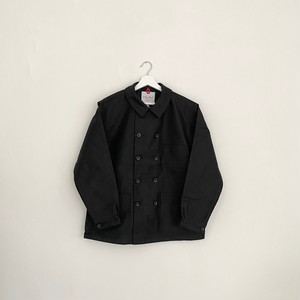 LE SANS PAREIL DOUBLE BREASTED MOLESKIN WORK JACKET-BLACK-