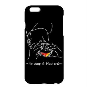 送料無料 [iPhoneケース] Ketchup and mustard 2 / Black