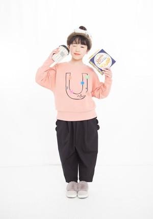 KIDS:UNICA【ユニカ】ビックUトレーナー(ピンク/100〜140cm)