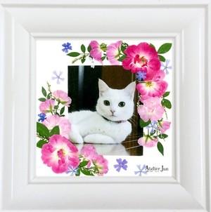写真&名入れ無料!押し花フレーム(15×15サイズ)