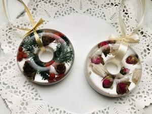 選べる香り アロマも楽しめるリースサシェ   アロマサシェ   クリスマスリース ミニバラリー